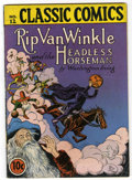 Golden Age (1938-1955):Classics Illustrated, Classic Comics #12 Rip Van Winkle and the Headless Horseman -Original Edition (Gilberton, 1943) Condition: VG/FN....