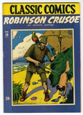 Golden Age (1938-1955):Classics Illustrated, Classic Comics #10 Robinson Crusoe - Original Edition (Gilberton,1943) Condition: Apparent VF....