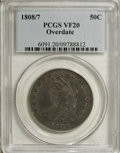 Bust Half Dollars: , 1808/7 50C VF20 PCGS. PCGS Population (6/100). NGC Census: (2/113).Numismedia Wsl. Price for NGC/PCGS coin in VF20: $200....