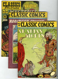 Golden Age (1938-1955):Classics Illustrated, Classic Comics #8, 10, and 40 Group (Gilberton).... (Total: 3 ComicBooks)