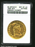 Early Eagles: , 1803 $10 Small Stars Reverse--Damaged, Cleaned--ANACS. AU ...