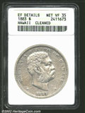 Coins of Hawaii: , 1883 $1 Hawaii Dollar--Cleaned--ANACS. XF Details, Net ...