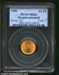 Commemorative Gold: , 1926 $2 1/2 Sesquicentennial MS64 PCGS. An appealing ...