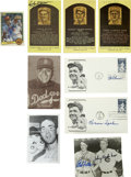 Autographs:Letters, Hall of Fame Pitchers Signatures Lot of 9. A total of nine Hall ofFame pitchers have made their coveted signatures availab...