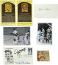 Autographs:Letters, Vintage Baseball Stars Signatures Lot of 7. A total of seven piecesthat we present here have been signed by vintage stars ...