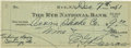 Autographs:Checks, 1951 Ed Barrow Signed Check. Perhaps the man most responsible for the mighty dynasty that is the New York Yankees franchise,...
