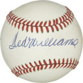 Autographs:Baseballs, Ted Williams Single Signed Baseball. Splendid single comes to ushere via one of the most celebrated sluggers in all of bas...