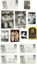 Autographs:Letters, New York Yankees Greats Signatures Lot of 13. Collected on thisgroup of postcards, first day covers, trading cards and pho...