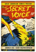 Golden Age (1938-1955):Non-Fiction, Great American Comics Presents - The Secret Voice #1 (AmericanFeatures Syndicate, 1945) Condition: VF....