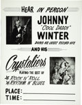 Music Memorabilia:Posters, Johnny Winter and the Crystaliers Concert Poster (circa 1964).Blues king Johnny Winter is seen in this early poster looking...(Total: 1 Item)