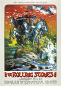 "Music Memorabilia:Posters, Rolling Stones Honolulu International Center Concert Poster (BillGraham/Barry Fey, 1973). It's ""Wild Horses"" comin' at ya ...(Total: 1 Item)"