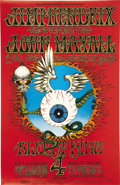 Music Memorabilia:Posters, Jimi Hendrix Experience Fillmore/Winterland Concert Poster BG-105Second Printing (Bill Graham, 1968). Rick Griffin's class...(Total: 1 Item)