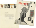 Movie/TV Memorabilia:Documents, Playboy First Issue With a Letter Signed By Hugh M. Hefner.A nice copy of the first issue of Playboy is cause e...(Total: 1 Item)