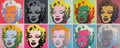 Movie/TV Memorabilia:Original Art, Andy Warhol Marilyn Monroe Screenprints by Sunday B.Morning. The iconic image of Andy Warhol's Marilyn Monroe...(Total: 1 Item)