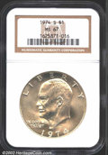 Eisenhower Dollars: , 1974-S $1 Silver MS67 NGC. ...