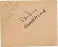 Autographs:Letters, Connie Mack Cut Signature. Exceptional fountain ink signature fromthe legendary baseball manager Connie Mack. Mack enjoye...