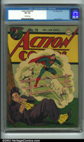 Golden Age (1938-1955):Superhero, Action Comics #79 (DC, 1944). CGC VF+ 8.5 Off-white pages. Jack Burnley art. Overstreet 2001 FN 6.0 value = $213; NM 9.4 val...