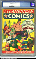 Golden Age (1938-1955):Superhero, All-American Comics #8 (DC, 1939). CGC VG/FN 5.0 White pages. First appearance of Ultra-Man. Overstreet 2001 GD 2.0 value = ...