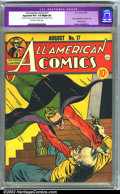 Golden Age (1938-1955):Superhero, All-American Comics #17 (DC, 1940). CGC Apparent VG+ 4.5 Off-white to white pages. Slight amateur restoration includes: mode...