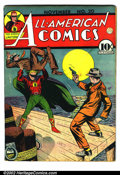 Golden Age (1938-1955):Superhero, All-American Comics #20 (DC, 1940). Condition: GD+. Heavy water damage to entire book....