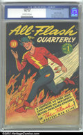 Golden Age (1938-1955):Superhero, All-Flash #1 (DC, 1941). CGC FN+ 6.5 Off-white to white pages. Origin of the Flash retold, first solo Golden Age Flash title...