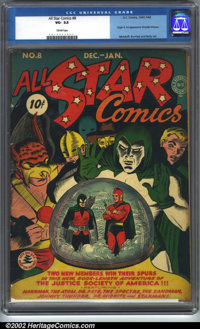 All-Star Comics #8 (DC, 1942). CGC VG- 3.5 Cream pages. Origin and first appearance of Wonder Woman. Moldoff, Burnley an...