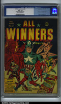 Golden Age (1938-1955):Superhero, All-Winners Comics #2 (Timely, 1941). CGC G/VG 3.0 Cream to off-white pages. Very minor amount of glue on cover. Destroyer ...