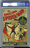 Silver Age (1956-1969):Superhero, The Amazing Spider-Man #1 (Marvel, 1963). CGC FN 6.0 Off-white pages. First appearance of J. Jonah James and The Chameleon. ...