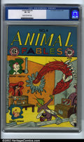 Golden Age (1938-1955):Funny Animal, Animal Fables #4 (EC, 1947). CGC VF- 7.5 Cream to off-white pages.Overstreet 2001 FN 6.0 value = $64; NM 9.4 value = $170. ...