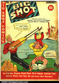 Big Shot Comics Lot #1 (Columbia, 1940-44). This lot consists of five different issues of Big Shot Comics. They are as f...