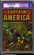 Golden Age (1938-1955):Superhero, Captain America Comics #7 (Timely, 1941). CGC Apparent VF/NM 9.0 Cream to off-white pages. Slight Professional restoration i...