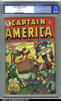 Golden Age (1938-1955):Superhero, Captain America Comics #40 (Timely, 1944). CGC FN 6.0 Off-white pages. Human Torch story, Syd Shores cover and art. Overstre...