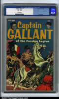 Golden Age (1938-1955):War, Captain Gallant #1 (U.S. Pictorial, 1955). CGC NM- 9.2 Off-whitepages. Don Heck art. Overstreet 2001 NM 9.4 value = $70. Ov...