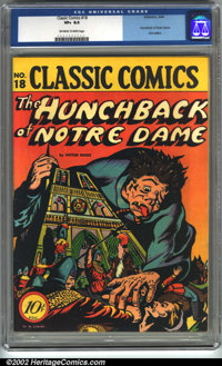 Classic Comics #18 The Hunchback of Notre Dame (Gilberton, 1944). CGC VF+ 8.5 Off-white to white pages. First edition. O...
