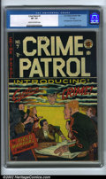"""Golden Age (1938-1955):Crime, Crime Patrol #7 """"D"""" Copy pedigree (EC, 1948). CGC VF- 7.5 Cream to off-white pages. First appearance of Captain Crime. Johnn..."""