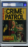 Golden Age (1938-1955):Crime, Crime Patrol #16 (EC, 1950). CGC VG/FN 5.0 Cream to off-white pages. Johnny Craig and Al Feldstein art. Overstreet 2001 GD 2...