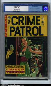 Crime Patrol #16 (EC, 1950). CGC VG/FN 5.0 Cream to off-white pages. Johnny Craig and Al Feldstein art. Overstreet 2001...