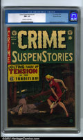 Golden Age (1938-1955):Crime, Crime SuspenStories #21 Gaines File pedigree 9/12 (EC, 1954). CGC NM- 9.2 Off-white to white pages. Craig, Crandall and Kame...