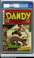 Golden Age (1938-1955):Funny Animal, Dandy Comics #3 (EC, 1947). CGC FN+ 6.5 (Off-white to white pages)Overstreet 2001 FN 6.0 value = $56. Overstreet 2002 FN 6....