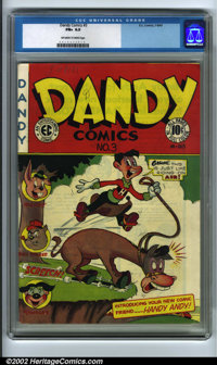 Dandy Comics #3 (EC, 1947). CGC FN+ 6.5 (Off-white to white pages) Overstreet 2001 FN 6.0 value = $56. Overstreet 2002 F...