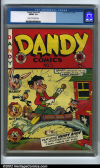 Dandy Comics #5 (EC, 1947). CGC FN/VF 7.0 Cream to off-white pages. Overstreet 2001 FN 6.0 value = $56; NM 9.4 value = $...