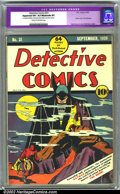 Golden Age (1938-1955):Superhero, Detective Comics #31 (DC, 1939). CGC Apparent VF+ 8.5 Moderate (P) Cream to off-white pages. Classic cover. First Batplane. ...