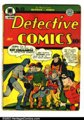 """Golden Age (1938-1955):Superhero, Detective Comics #65 (DC, 1942). Condition: GD/VG. Centerfold detached, """"Collection of Biljo White"""" stamped on first page...."""
