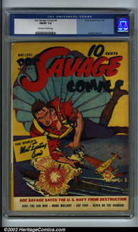 Doc Savage Comics #4 (Street & Smith, 1941). CGC FN/VF 7.0 Off-white to white pages. George Tuska art. Overstreet 20...