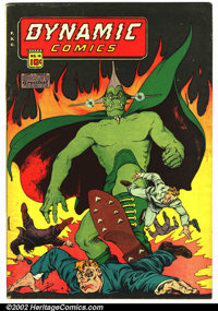 Dynamic Comics #18 (Chesler, 1946). This hard to find Chesler has a classic cover that was chosen by Comicbook Marketpla...