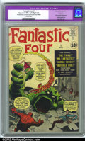 Silver Age (1956-1969):Superhero, Fantastic Four #1 (Marvel, 1961). CGC Apparent VF+ 8.5 Slight (A) Off-white pages. Restoration includes: color touch, re-glo...