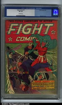Fight Comics #17 (Fiction House, 1942). CGC FN 6.0 Off-white pages. Overstreet 2001 FN 6.0 value = $133. Overstreet 2002...