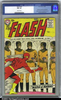 Flash, The #105 (DC, 1959). CGC FN+ 6.5 Light tan pages. Overstreet 2001 FN 6.0 value = $1,060; NM 9.4 value = $6,000. O...