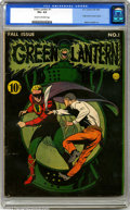 Golden Age (1938-1955):Superhero, Green Lantern #1 (DC, 1941). CGC VG+ 4.5 Cream to off-white pages. Origin Green Lantern retold. Overstreet 2001 GD 2.0 value...