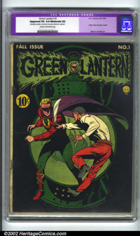 Green Lantern #1 (DC, 1941). CGC Apparent VG 4.0 Moderate (A) Cream to off-white pages. Restoration includes: color touc...